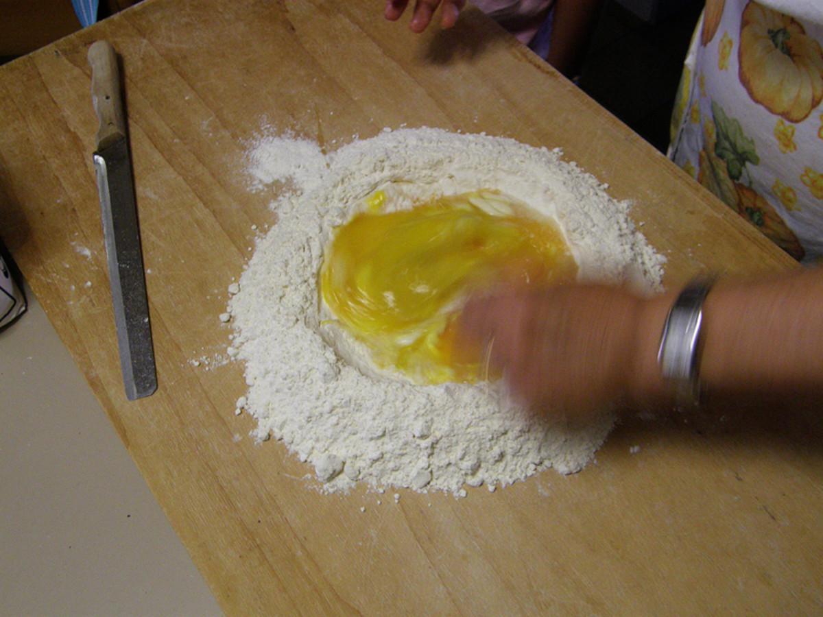 Form the pasta dough.