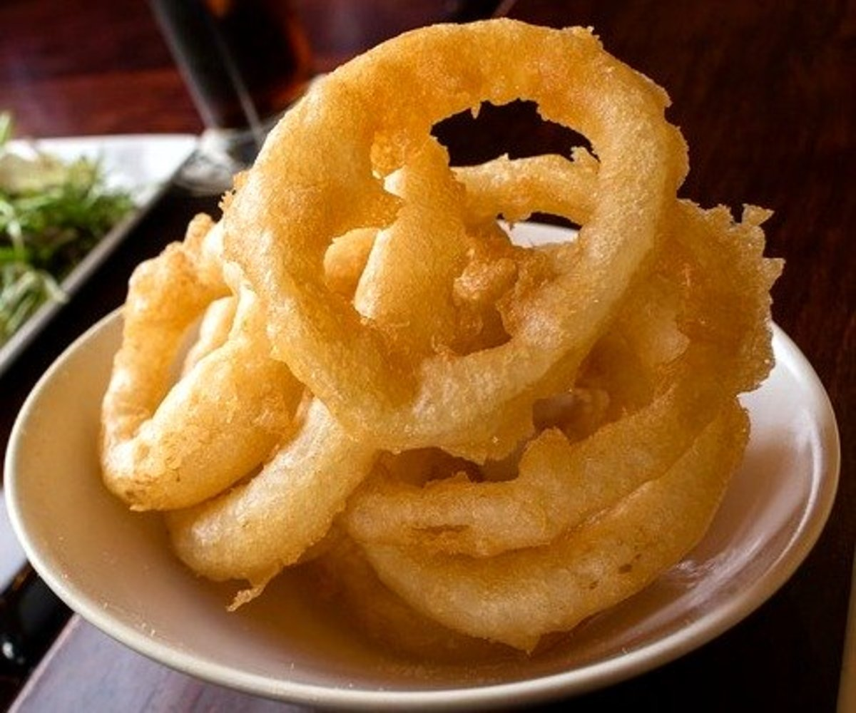 When you order onions ring in a restaurant, there are never enough.