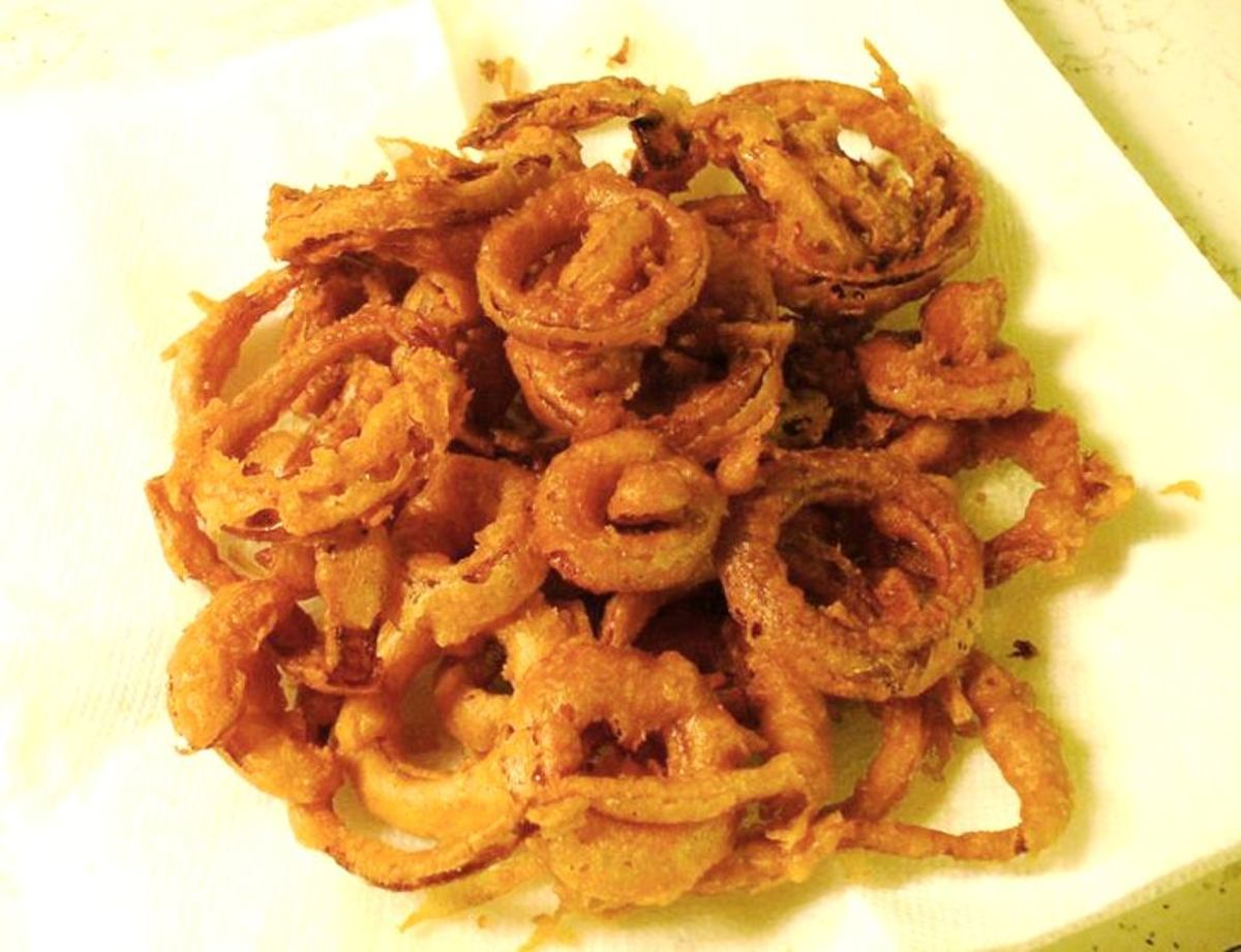 A friend tried my recipe and shared a photo of her onion rings.