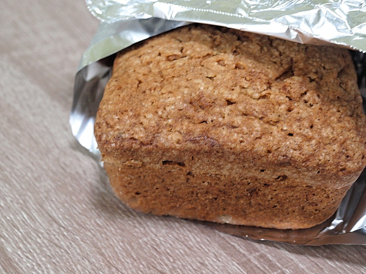 Wrap the loaf in foil to store for later.