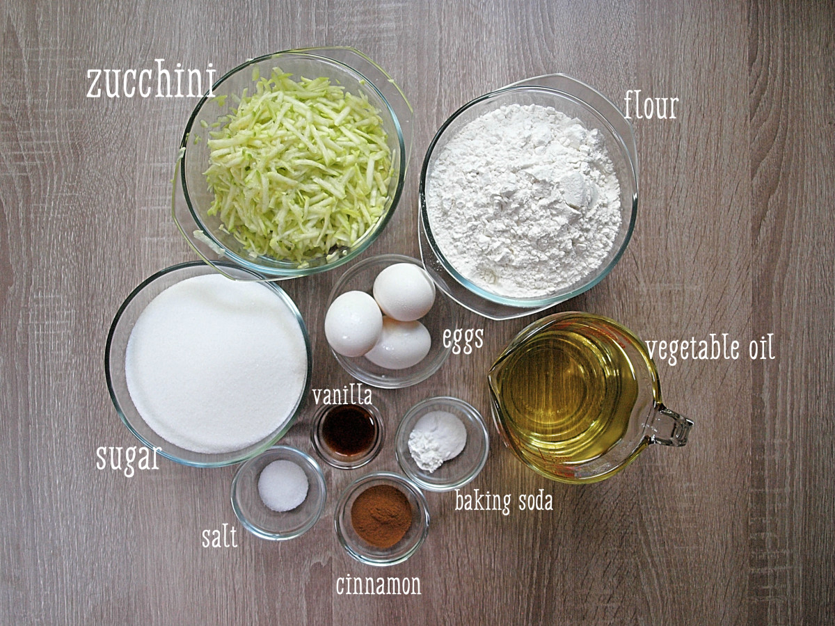 Zucchini Bread Ingredients