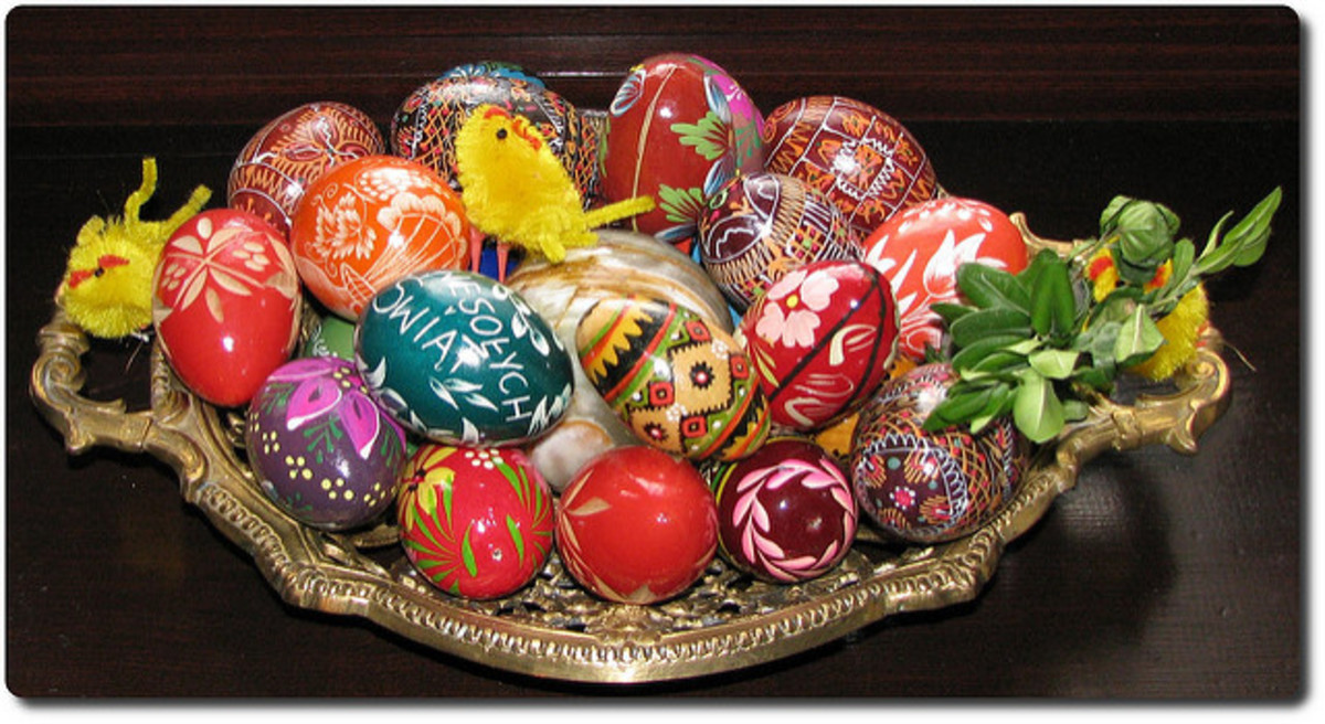 Polish Easter Eggs. Transform your extra eggs into a delicious soup.