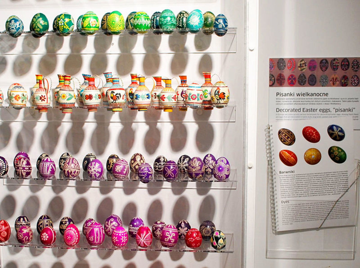 Easter eggs at the National Museum of Ethnography in Warsaw. Poland.