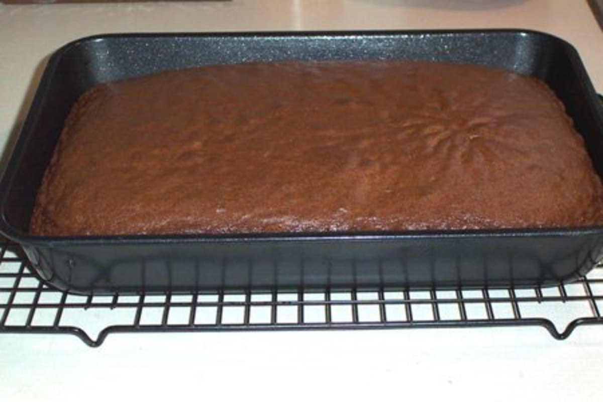 Bake your cake just as you normally would and let cool for 15-20 minutes.