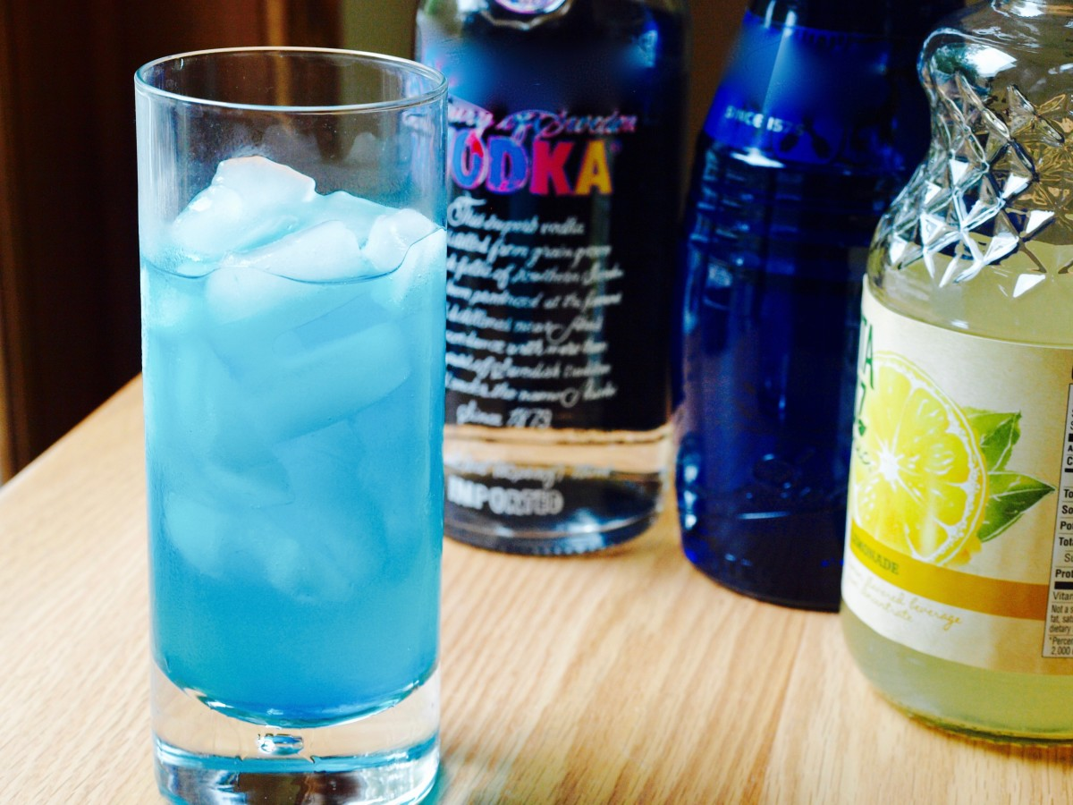 My favorite blue curaçao cocktail.