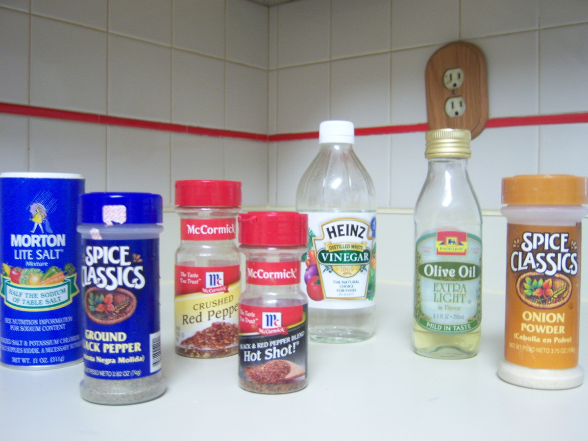 Here is a picture of the seasonings you will need.