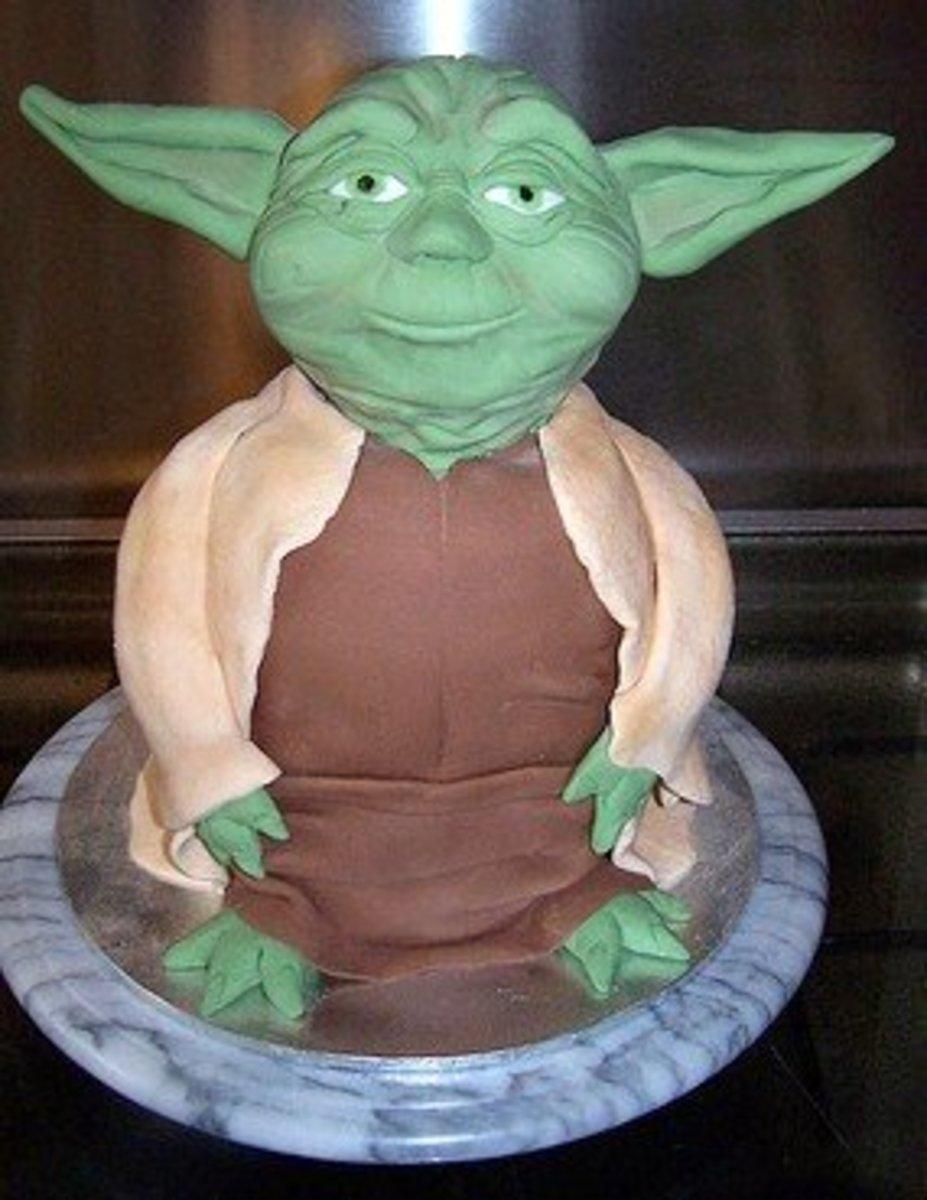 Yoda birthday cake.