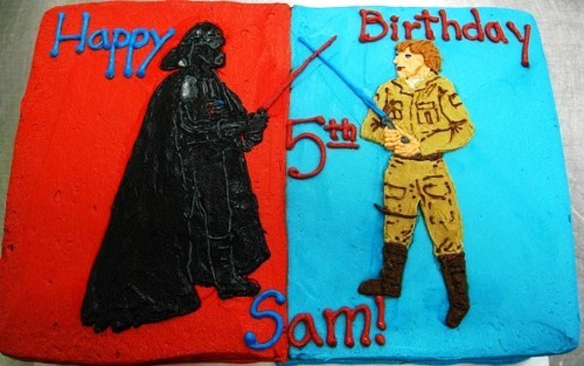 Dueling Darth vs. Luke Cake