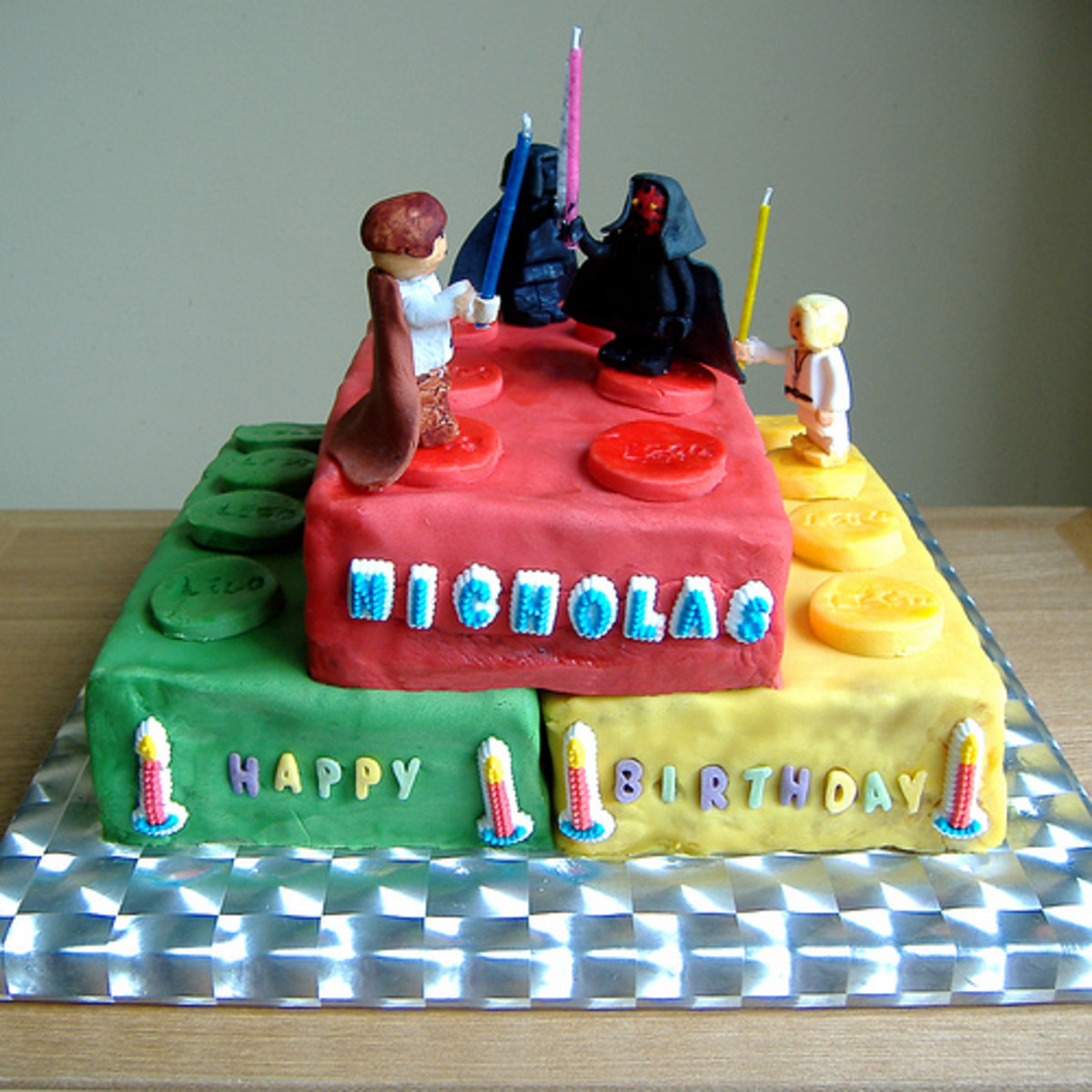 Lego Star Wars birthday cake.