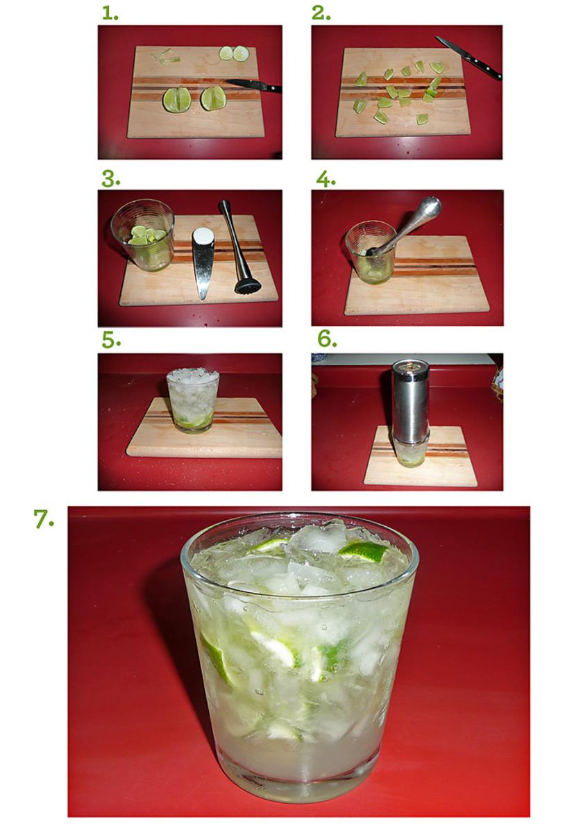 step-by-step guide of making Caipirinha