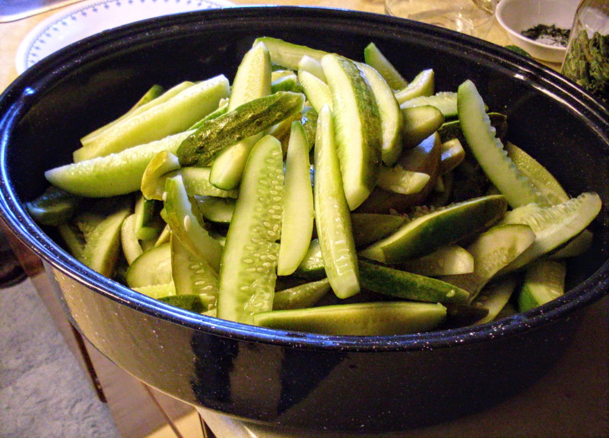 Set them in a large container (in this case, a roasting pan) which will be easy to reach into to grab small handfuls.