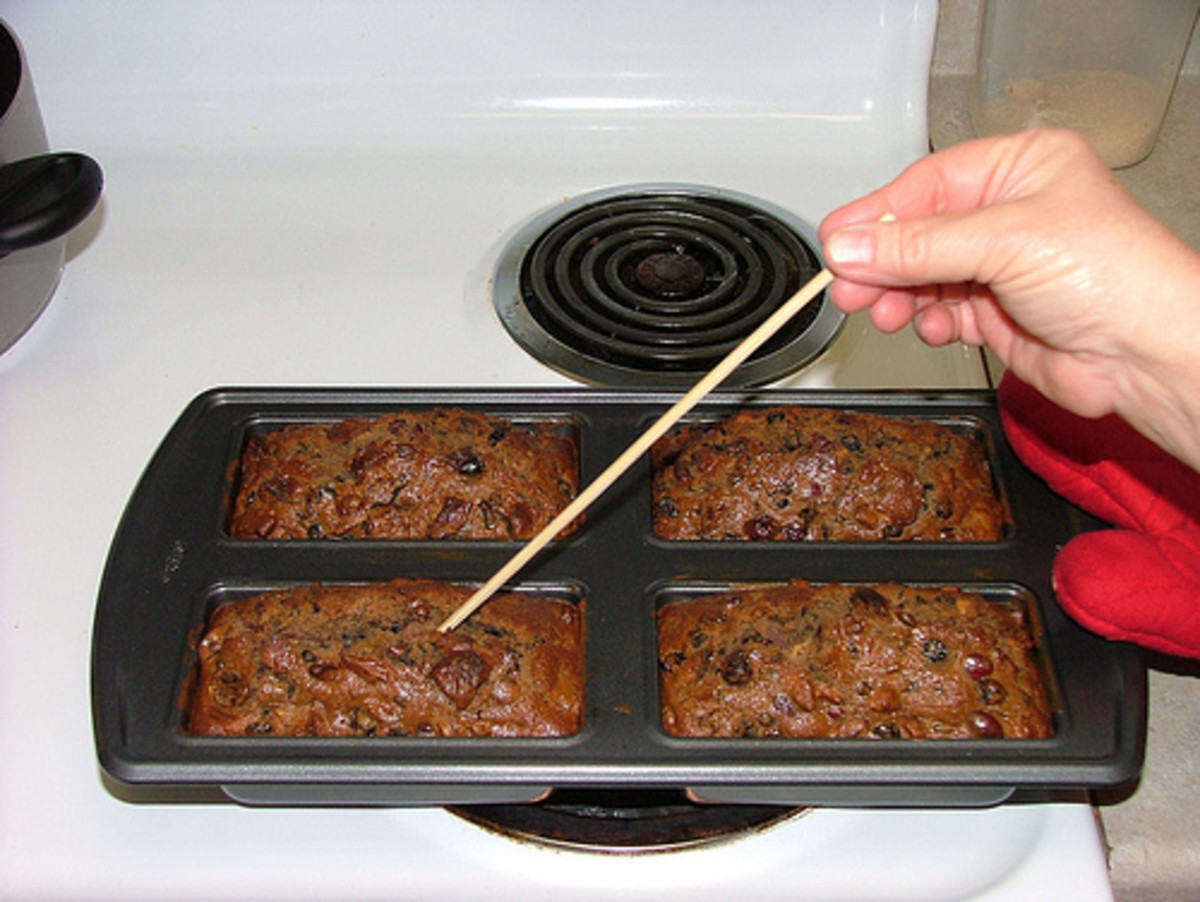Fruitcake can be baked in multiple loaf pans. Simply reduce the bake time and check periodically for doneness.