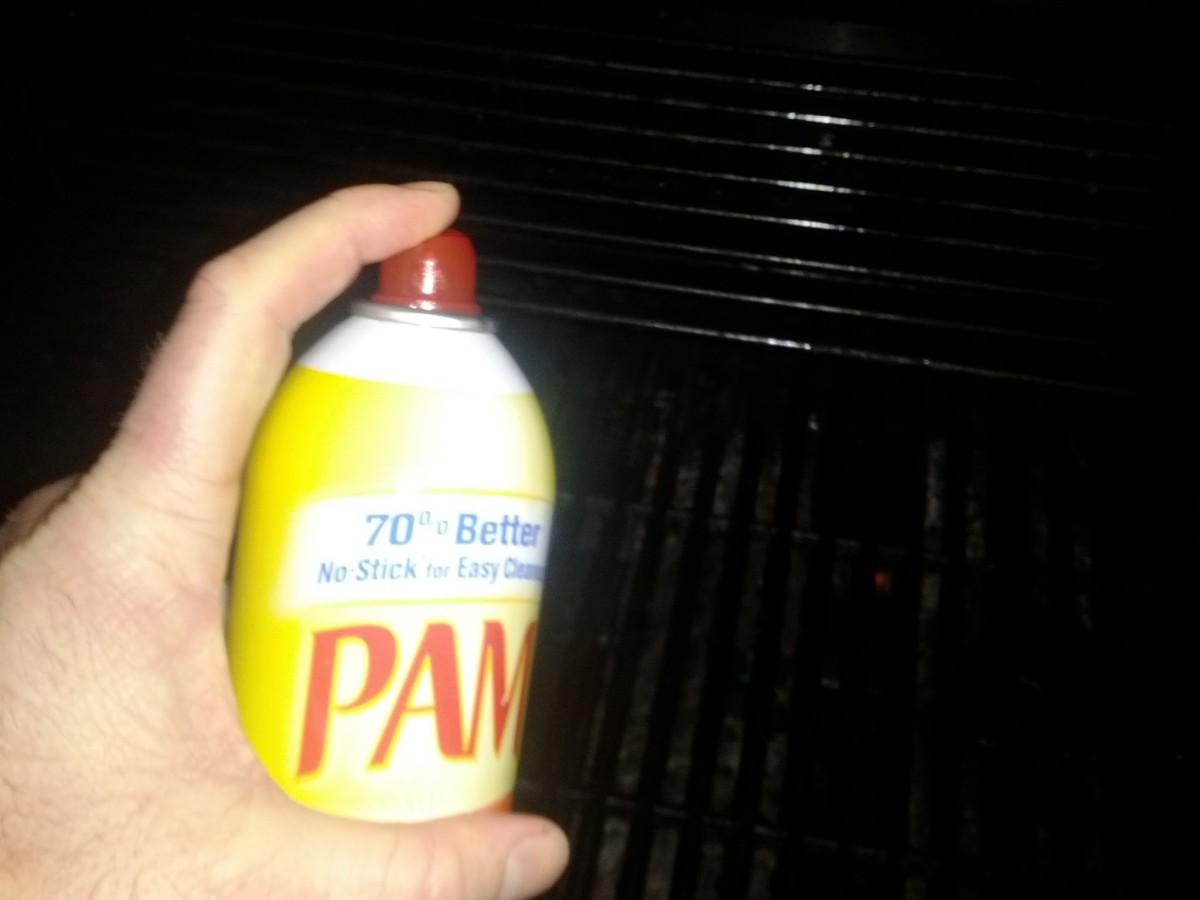 Spray the grill with Pam to prevent the chicken from sticking to the grill.