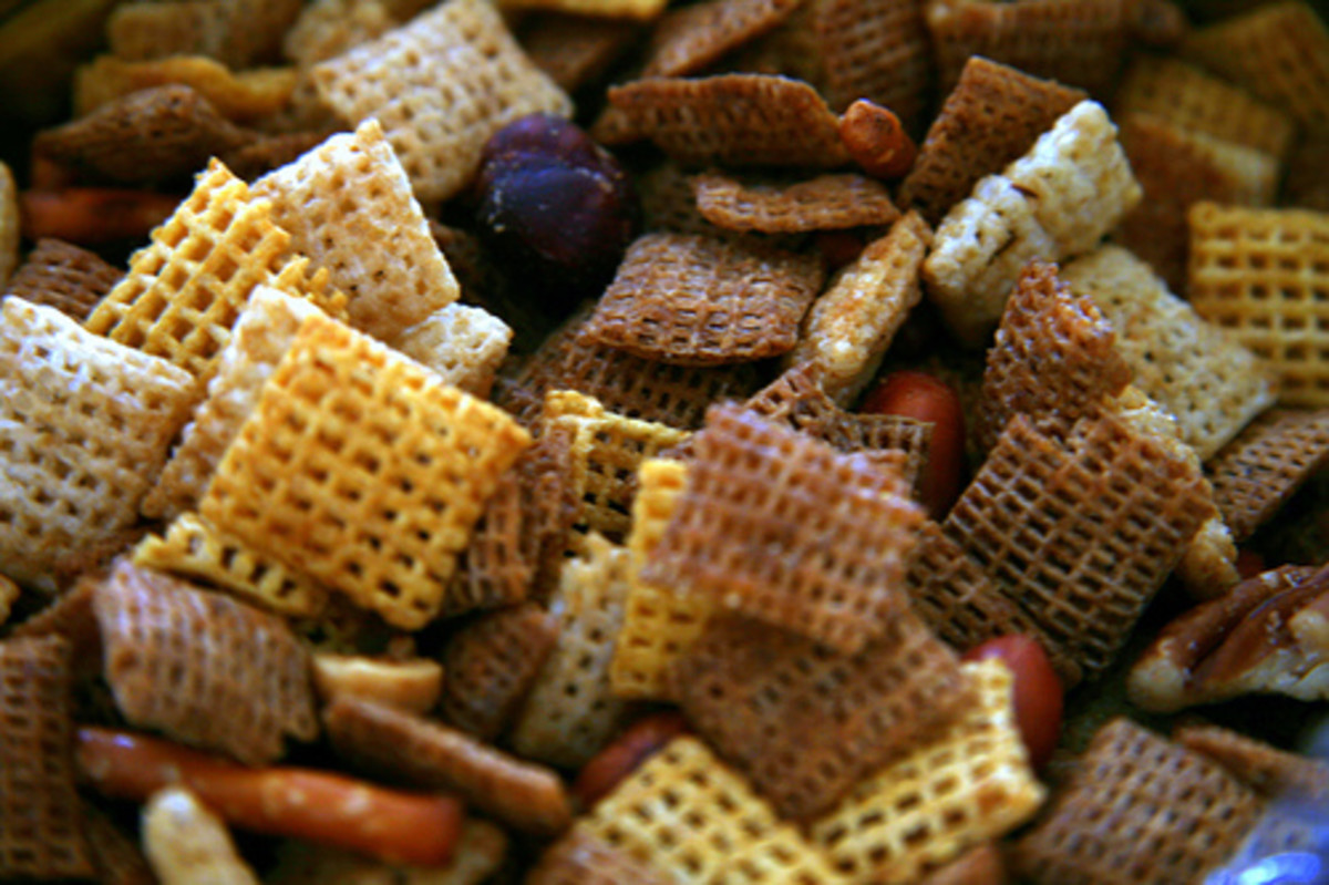 Classic Chex Mix should be in your party bowl