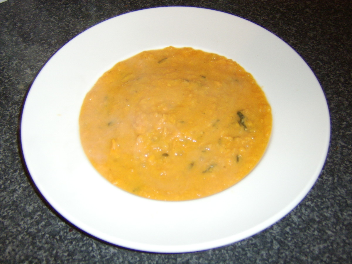 Sweet Potato and Apple Soup Recipe for One