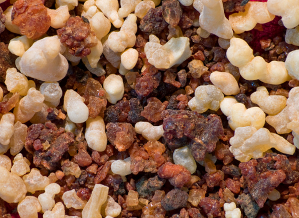 Frankincense and Myrrh.  Photo by Zebra99@Dreamstime.com