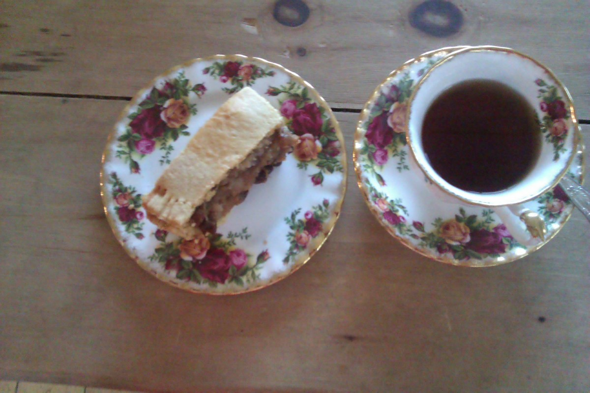 GUR CAKE WITH A NICE CUP OF TEA