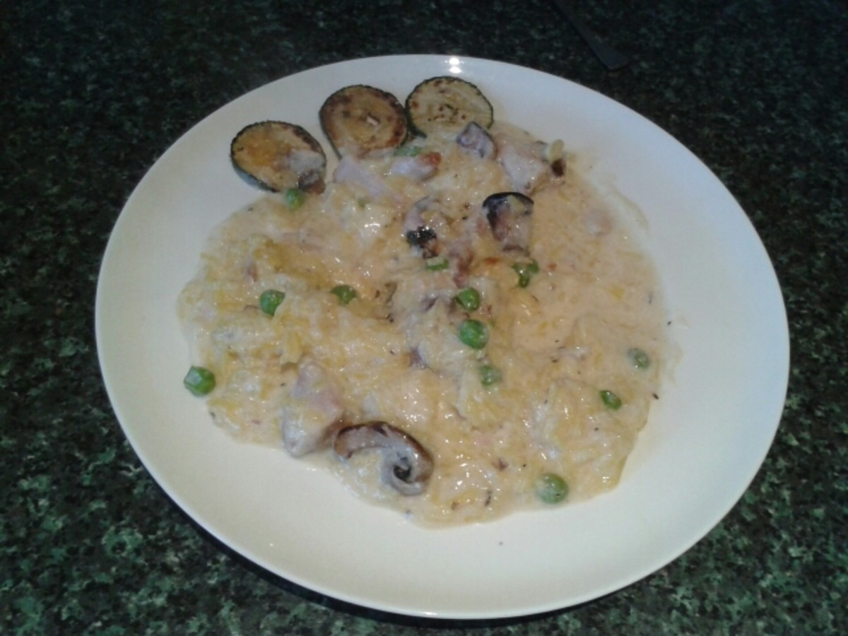 Mushroom Risotto With Turkey or Chicken
