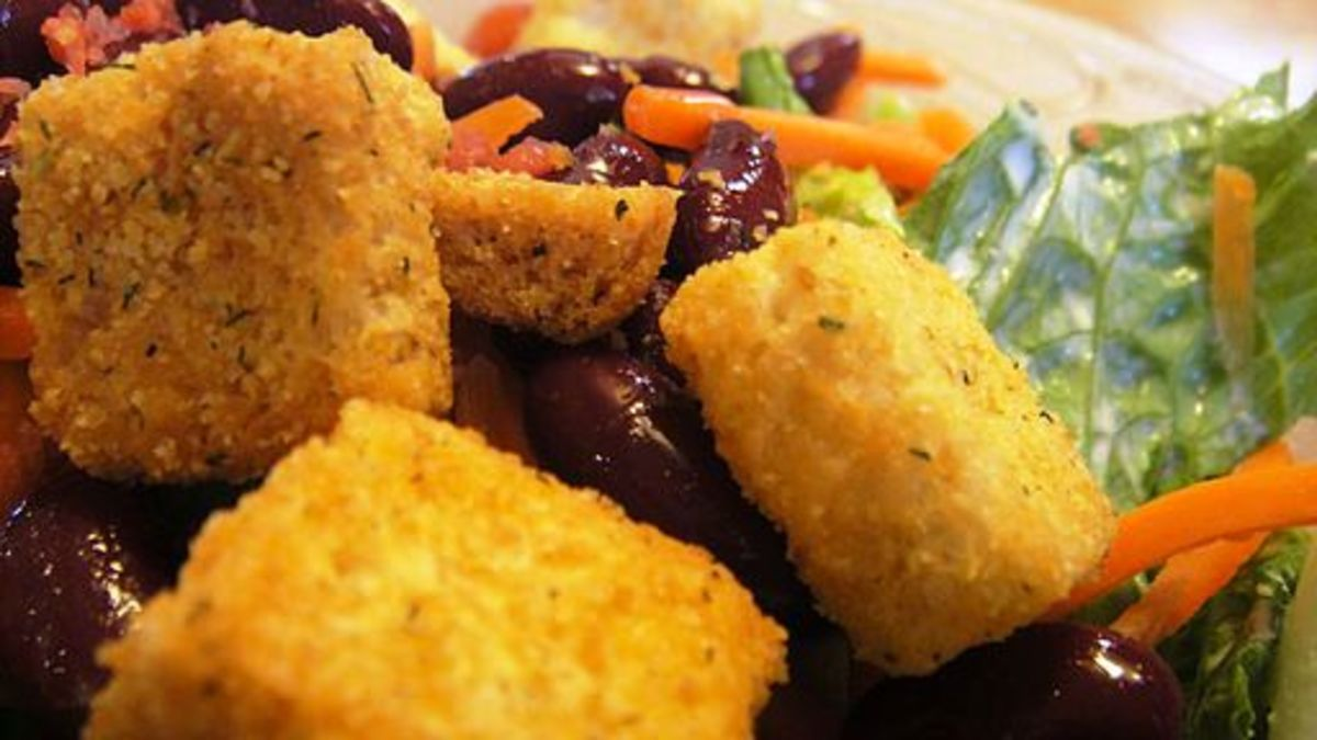 Add flavor to salads by including homemade croutons.
