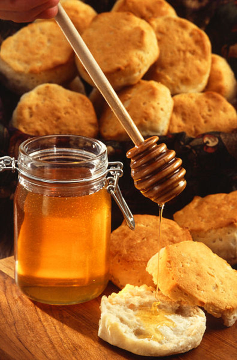Honey is a symbolic New Year's food as well.