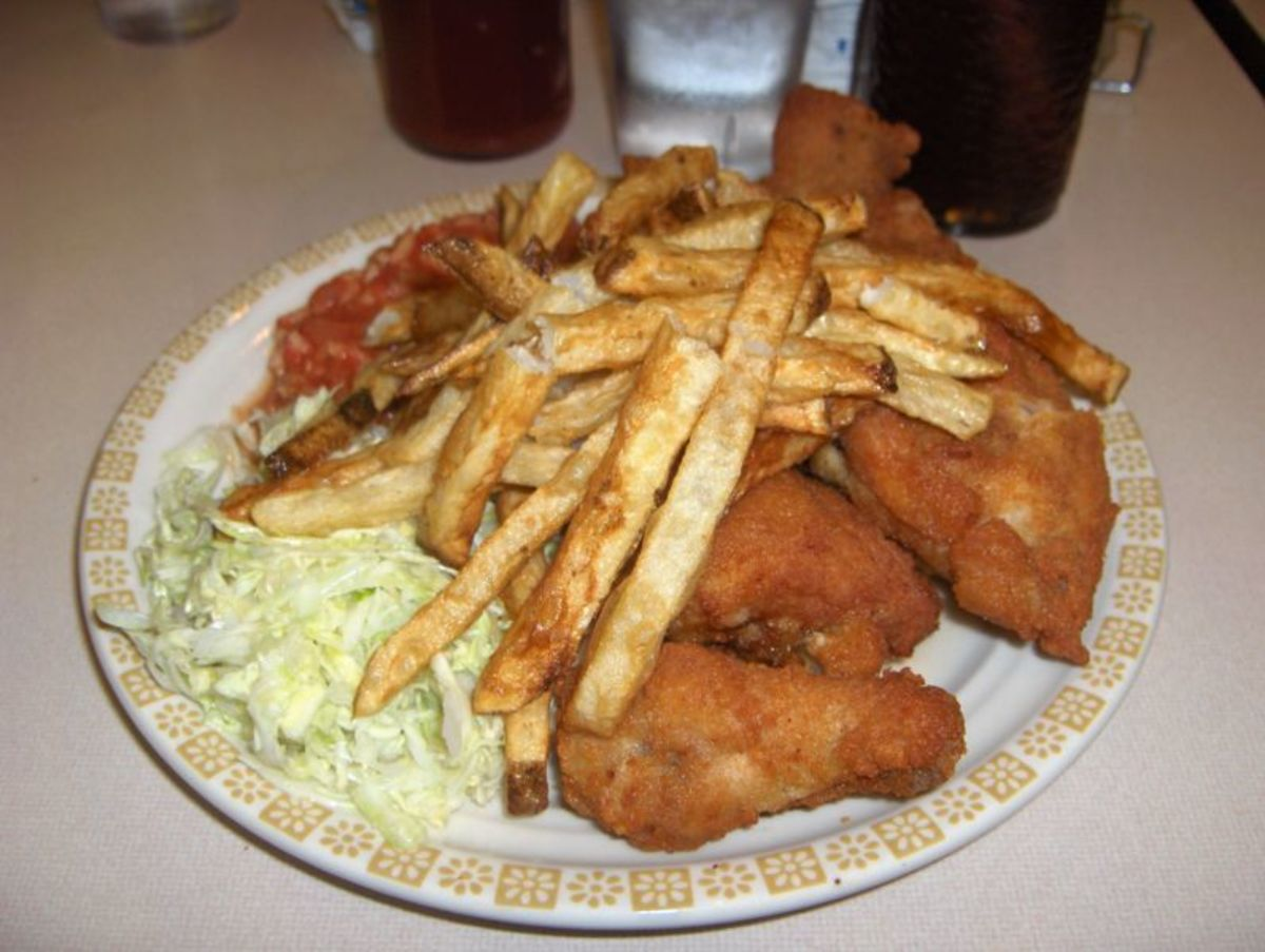 Coleslaw - with fried chicken and fries.