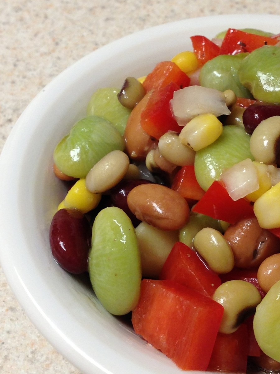Lucky black-eyed peas in a salad.