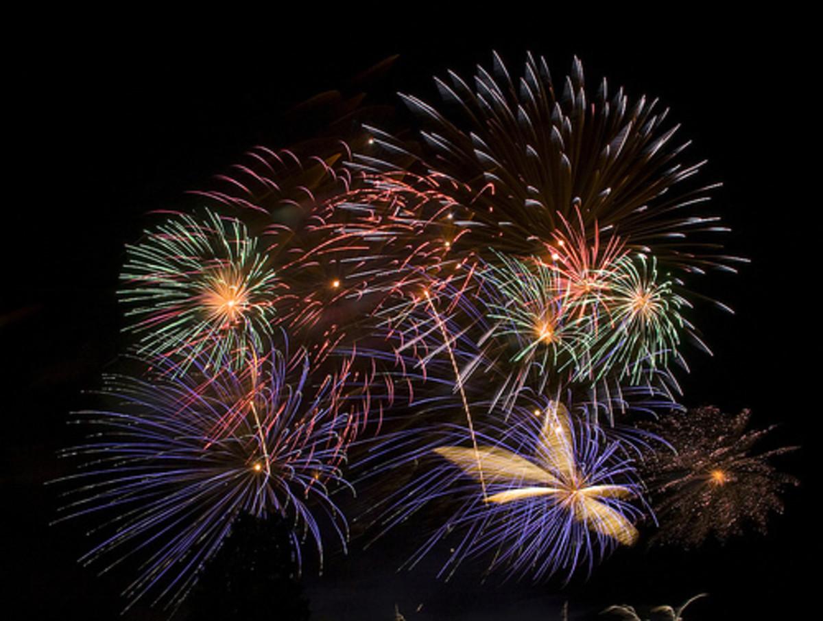 Impressive fireworks display