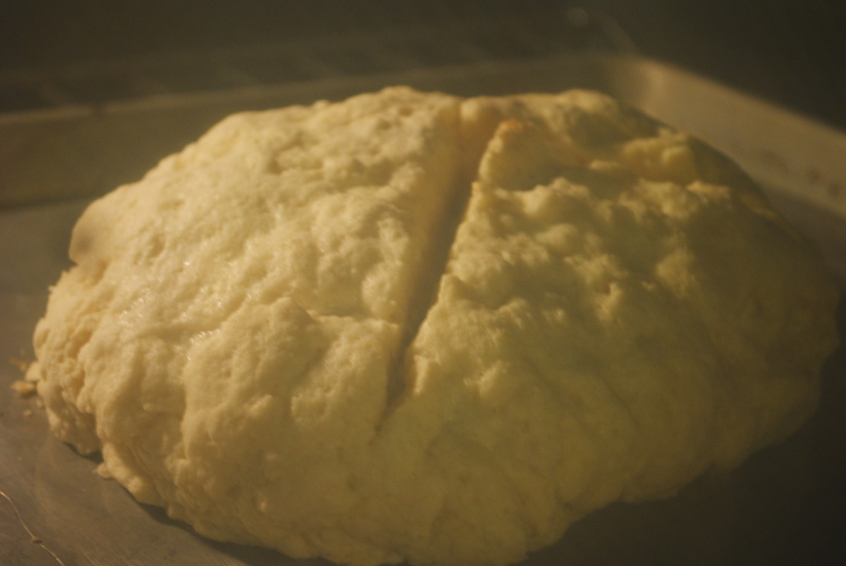 After a few minutes the slashed dough will separate more - increasing surface area, and helping to insure the bread bakes evenly.
