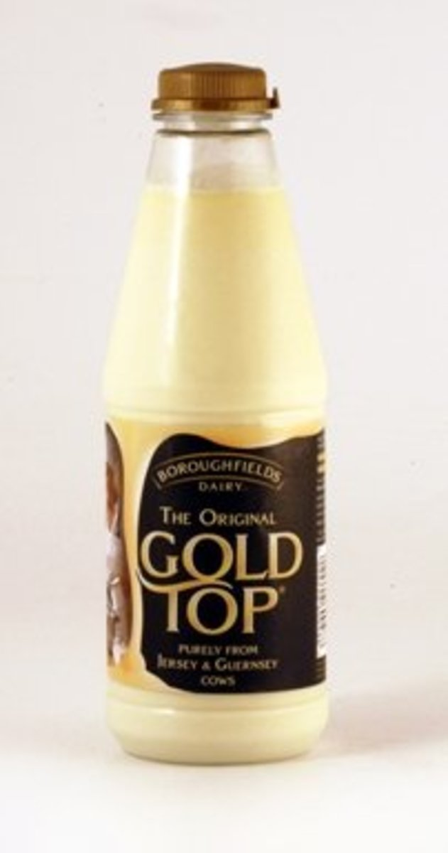 Gold Top (Channel Island) milk