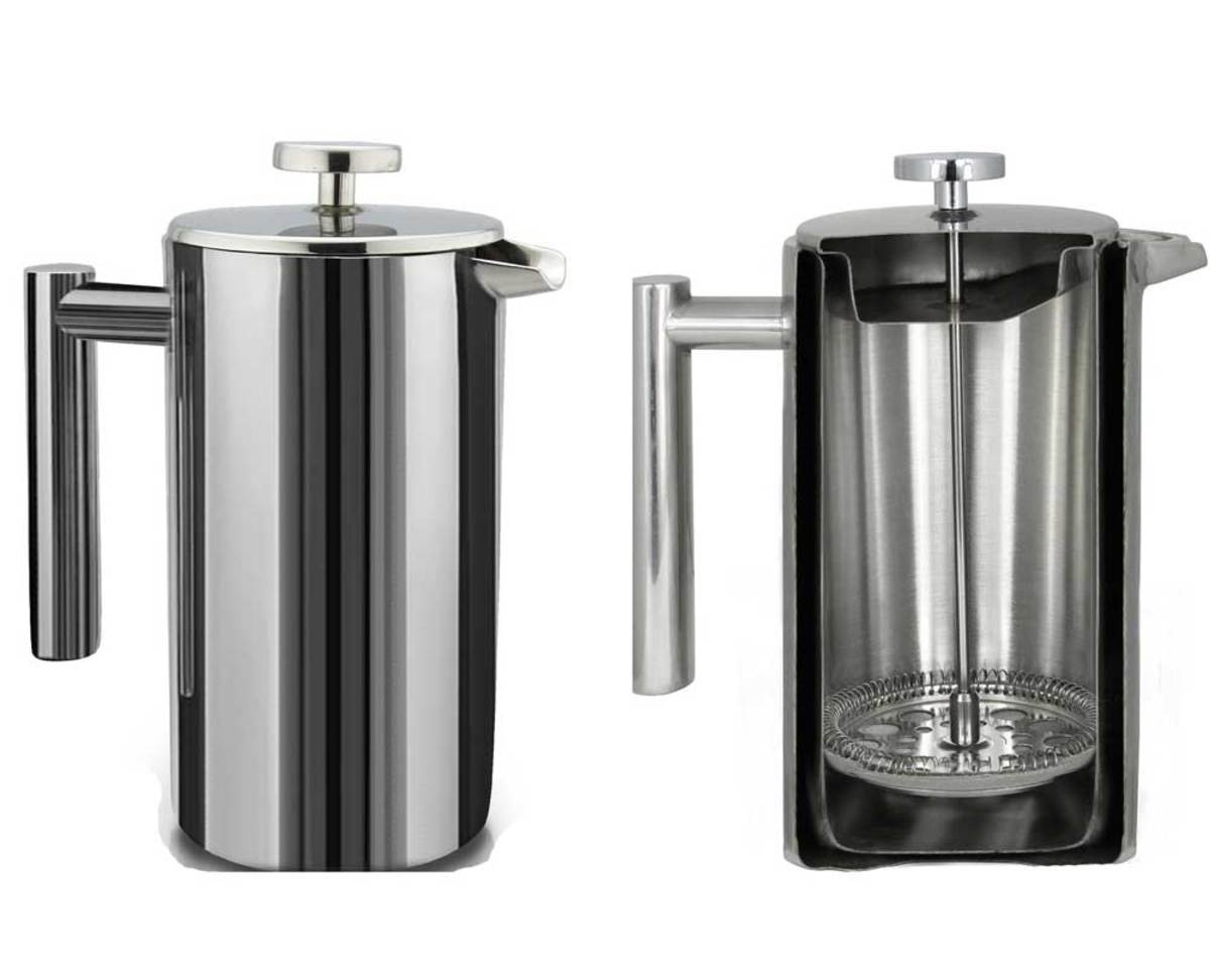 Double-wall Sterling Pro keeps coffee hot longer.