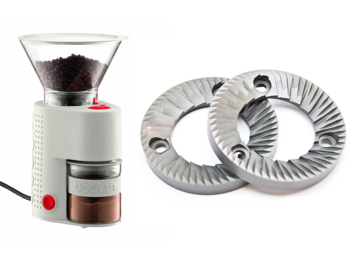 Typical burr grinder and blade assembly.