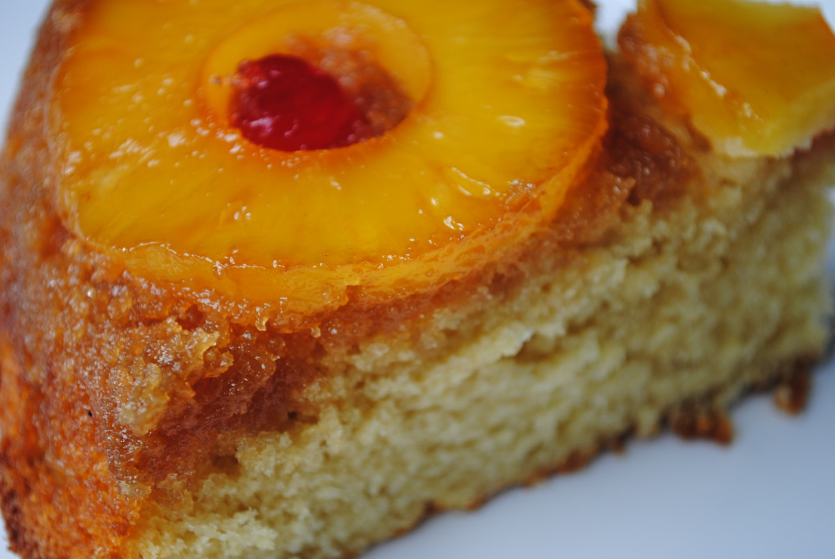 Can you imagine a more perfect slice of pineapple cake?