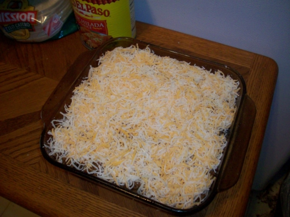 Finish Adding Layers to the Enchilada Casserole