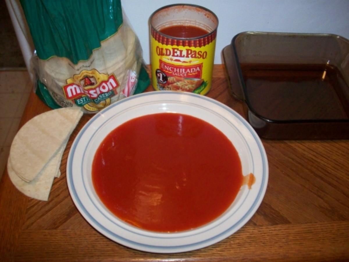 Enchilada Sauce to Dip Corn Tortillas