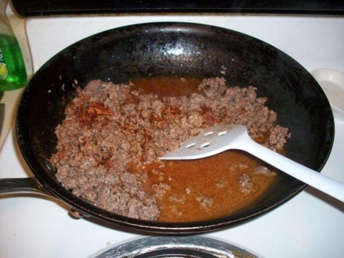 Add Taco Seasoning to Browned Hamburger