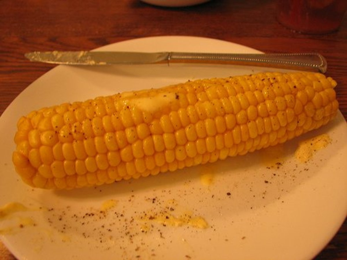 corn cooked in the microwave