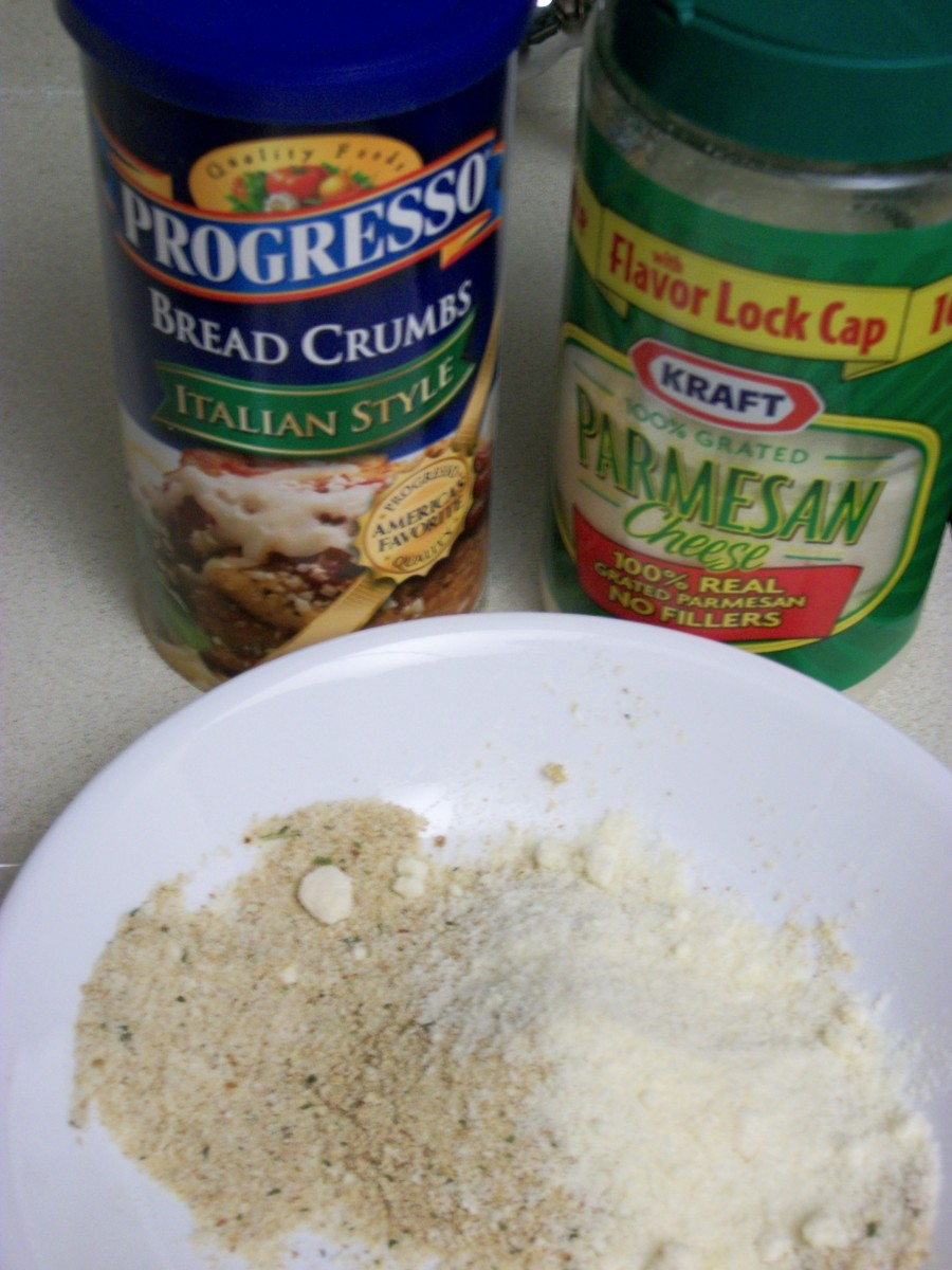 Use a little more bread crumbs than Parmesan