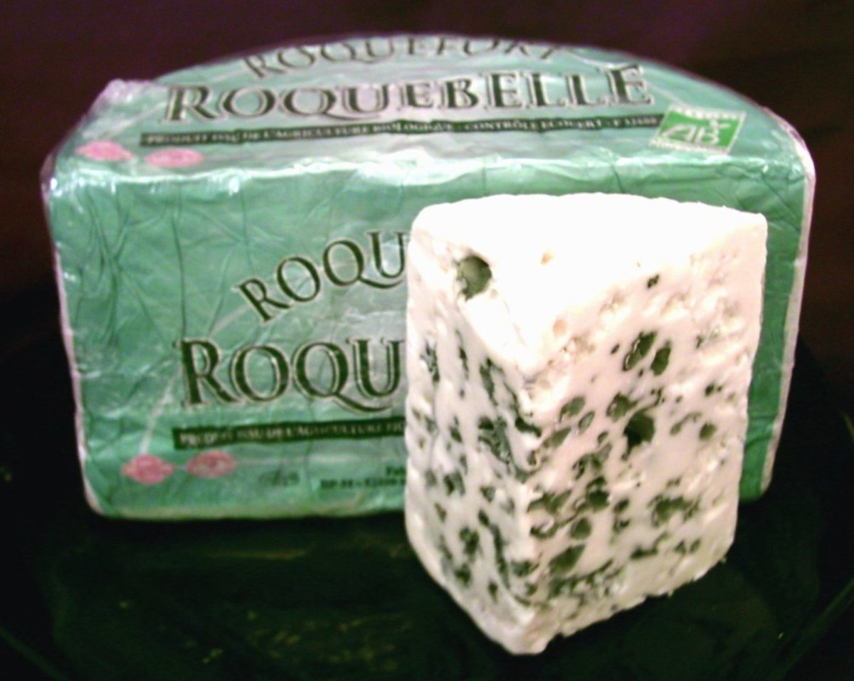 Roquefort cheese... YUM!