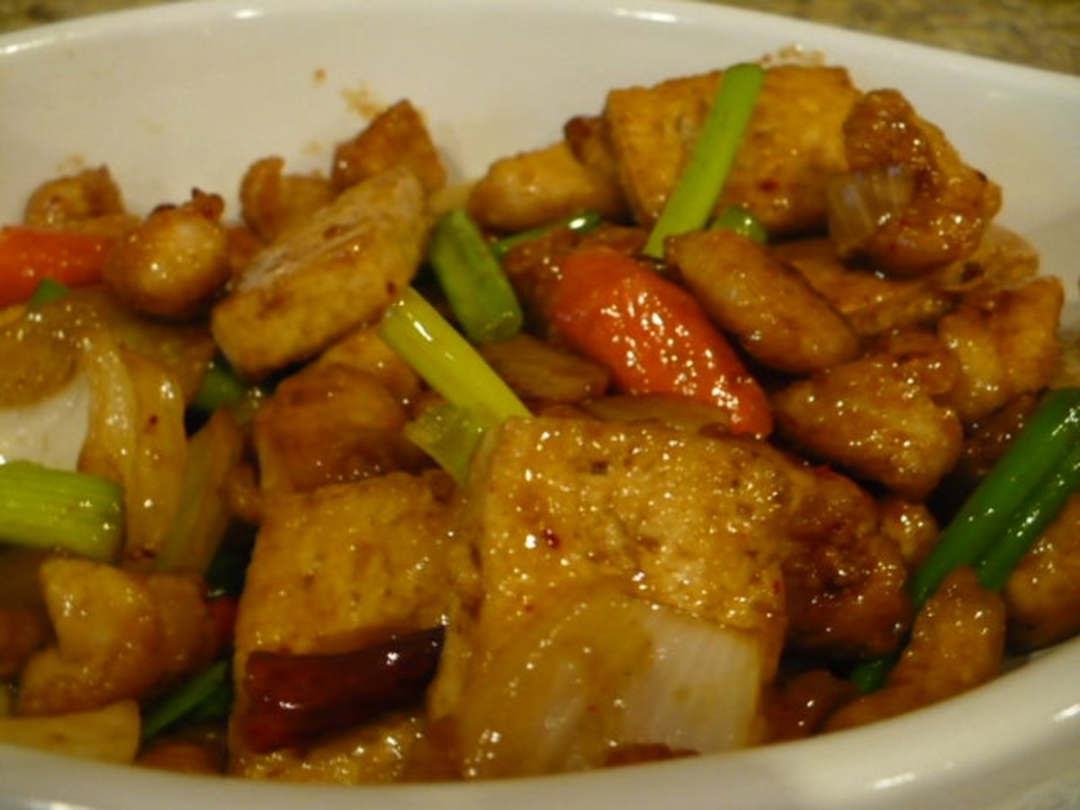 And what do you get when you add chicken to tofu? Chicken tofu stir-fry naturally. Yummy with rice and quite a complete meal on its own.