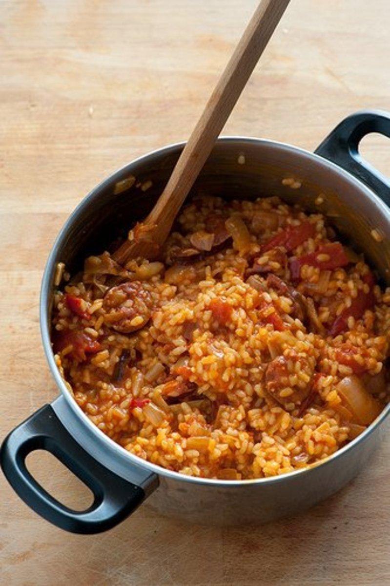Spanish Rice with Chorizo Sausage