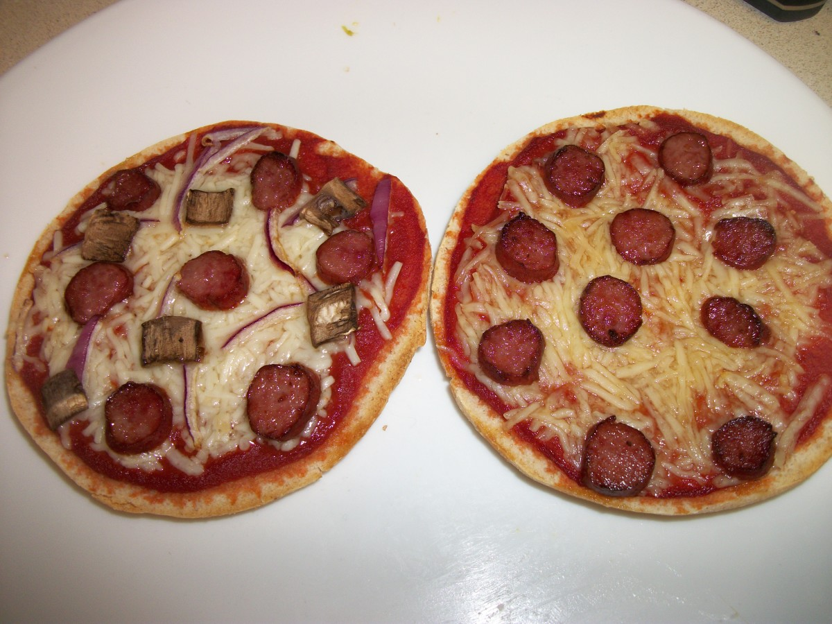 Pizzas made with Lit'l Smokies