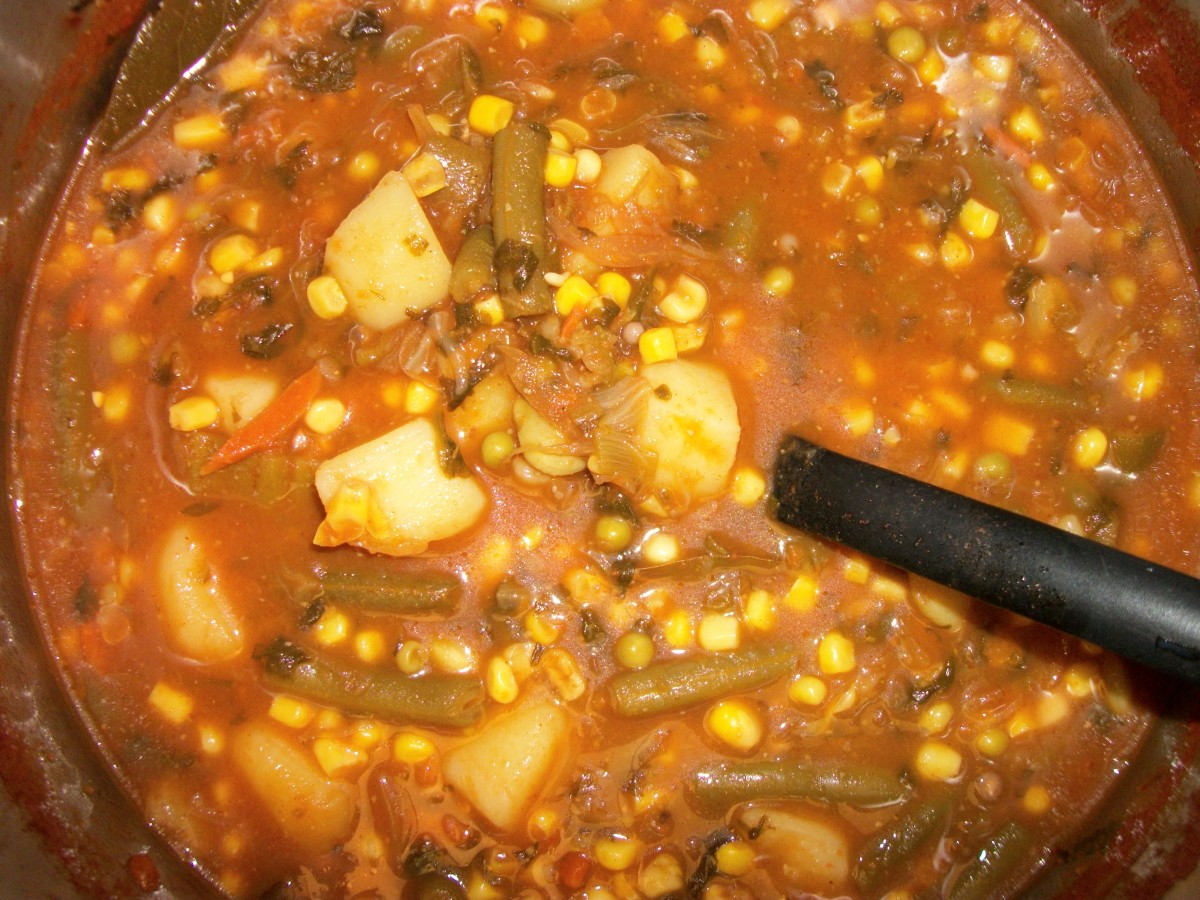 Vegetable Soup with 1 bread exchange per 2 cups of soup