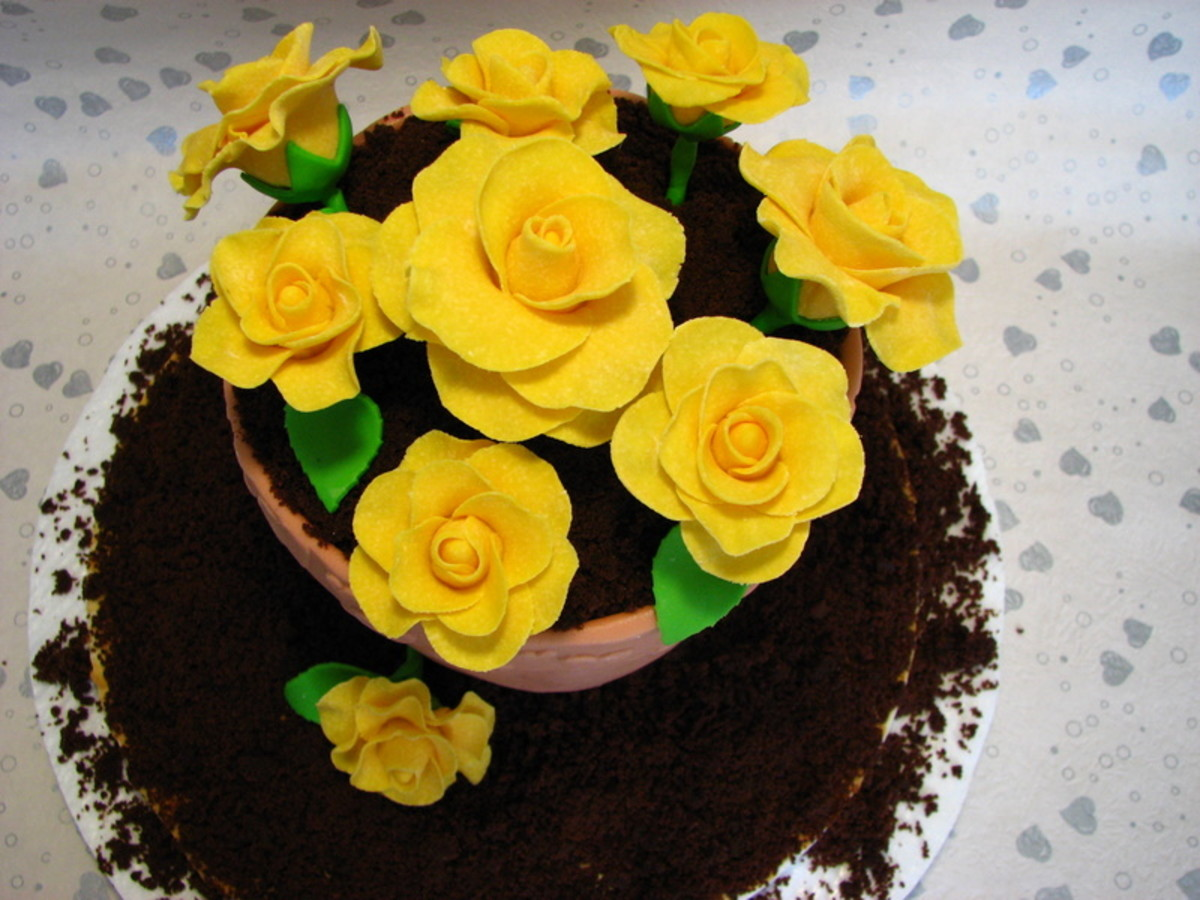 Dirt Cake is often served in flower pots, with Gummie Worms sticking out!