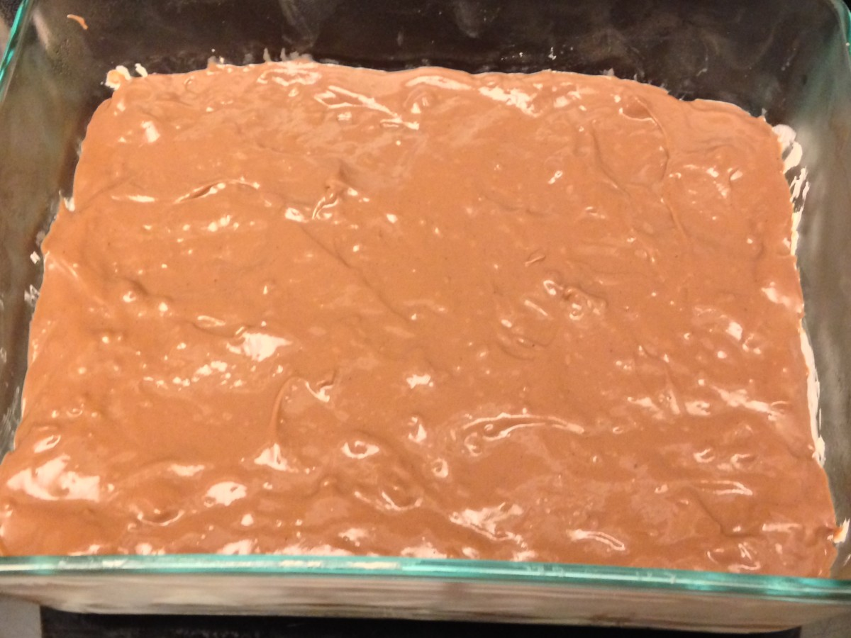 Layer 3, chocolate pudding