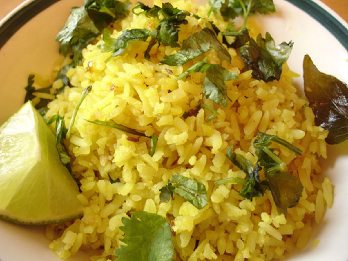 Poha - Fried Flattened Rice (Photo courtesy by rovingl from Flickr.com)