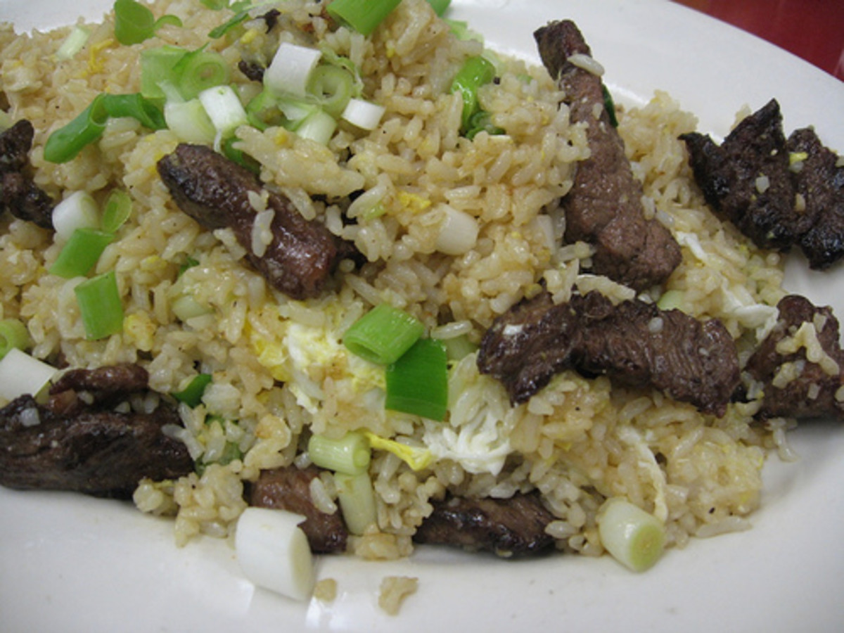 Peruvian Fried Rice with Beef, Green Onions, and Egg (Photo courtesy by arnold - inuyaki from Flickr.com)