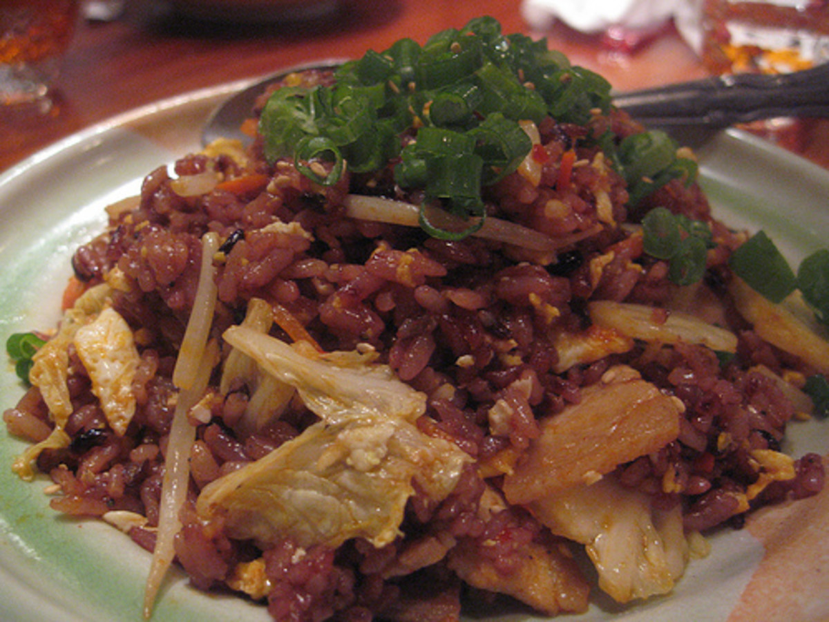 Chahan - Fried Black Rice (Photo courtesy by Ron Diggity from Flickr.com)