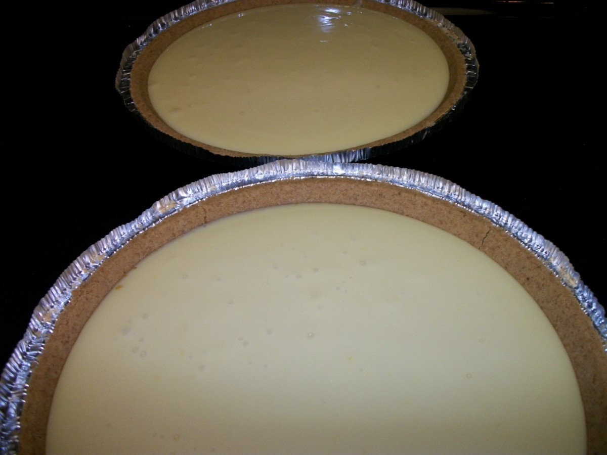 Finished Lemon Pies.  Personal photo.
