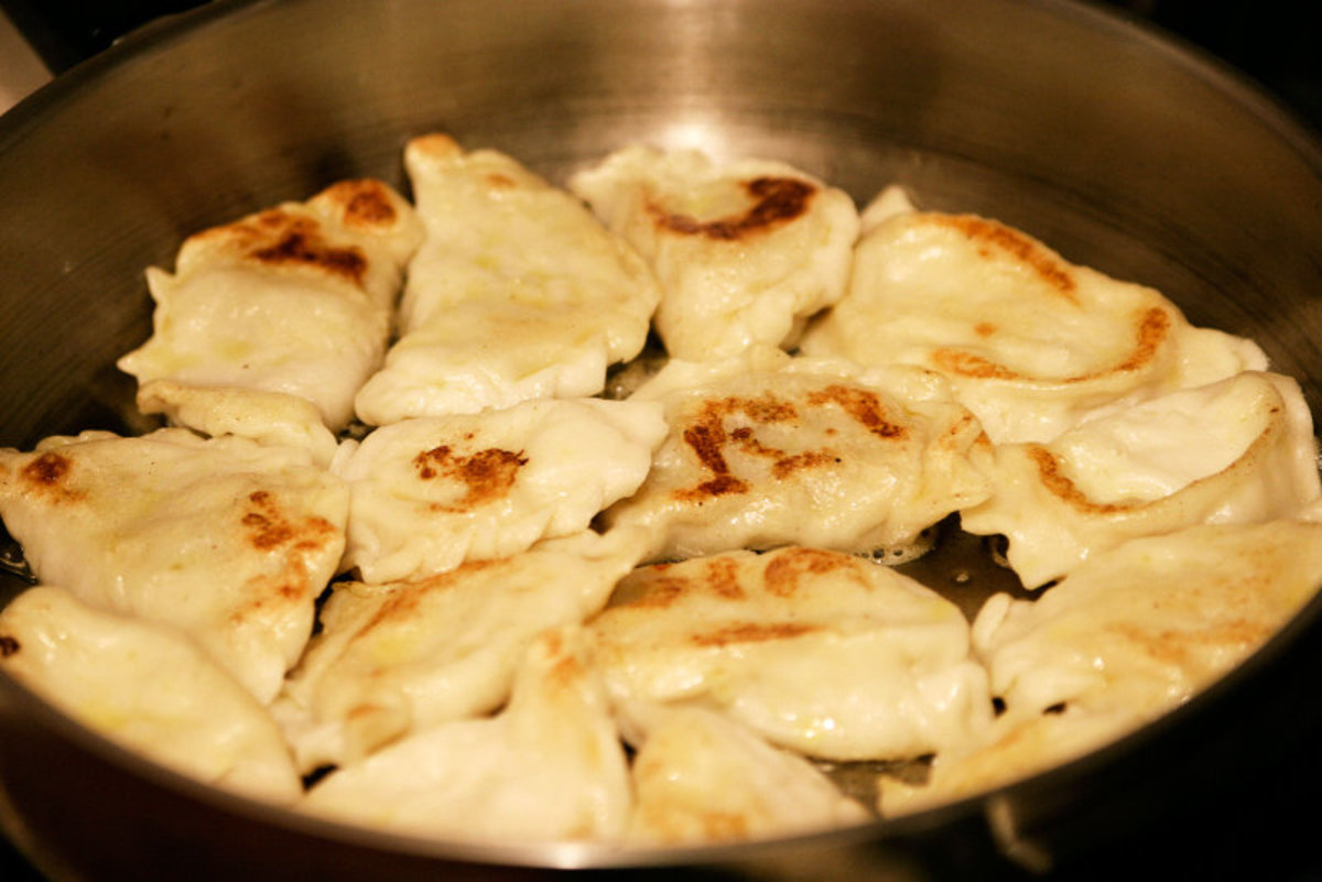 Pierogi can be either boiled or fried. The best pierogi doesn't come out of a box.