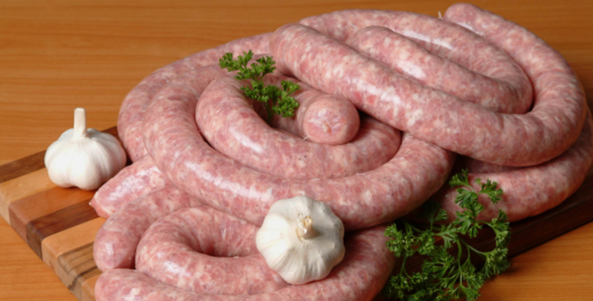This is what Polish sausage looks like (uncooked.) Yummy!